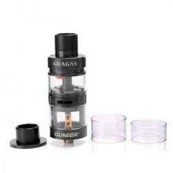 Authentic OUMIER Gragas RDTA Rebuildable Dripping Tank Atomizer - Black, Stainless Steel, 4ml, 25mm Diameter