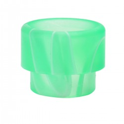 "Acrylic Wide Bore Drip Tip for 1/2"" Goon RDA / Kennedy 24 RDA - Green + White, 13mm"