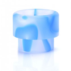 "Acrylic Wide Bore Drip Tip for 1/2"" Goon RDA / Kennedy 24 RDA - White + Blue, 13mm"