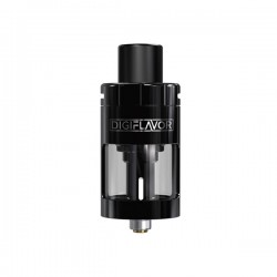 Pre-order Authentic Digiflavor Espresso Sub Ohm Tank Atomizer - Black, Stainless Steel, 3ml, 25mm Diameter