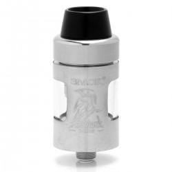 Authentic SMOKTech SMOK Helmet Mini Sub Ohm Tank Atomizer - Silver, Stainless Steel, 2ml, 22mm Diameter
