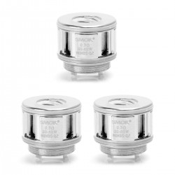 Authentic SMOKTech SMOK Minos Q2 Coil Head - Silver, Stainless Steel, 0.3 Ohm (3 PCS)
