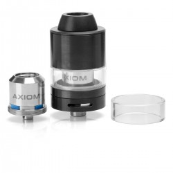 Authentic Innokin Axiom RTA Rebuildable Tank Atomizer - Black, Stainless Steel, 3.5ml, 22mm Diameter
