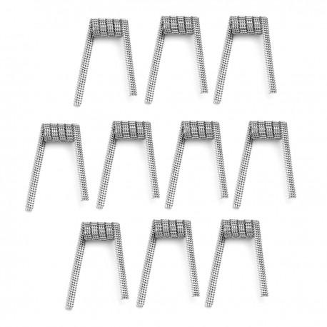 Authentic VapeThink Shark Heating Wire for RBA / RTA / RDA - Silver, 0.5 x 3 + 0.2, 0.15 Ohm (10 PCS)