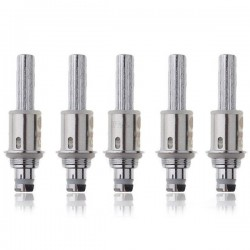 Authentic Kanger Dual Coil Heads Unit for Clearomizer - Silver, Metal, 1.0 Ohm (5 PCS)