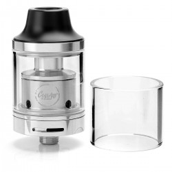 Authentic CoilArt MAGE RTA Rebuildable Tank Atomizer - Silver, Stainless Steel, 3.5ml, 24mm Diameter
