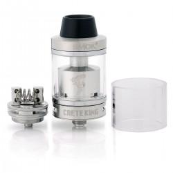 Authentic SMOKTech SMOK Minos Sub Tank - Silver, Stainless Steel + Glass, 4.0mL, 0.3 Ohm, 25mm Diameter