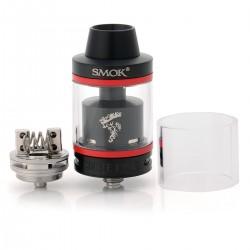 Authentic SMOKTech SMOK Minos Sub Ohm Tank - Black, Stainless Steel + Glass, 4.0mL, 0.3 Ohm, 25mm Diameter