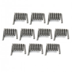 Authentic SMOKTech SMOK TFV8 V8 RBA 2 Core Fused Clapton Heating Coils - Silver, Stainless Steel, 0.57 Ohm (10 PCS)