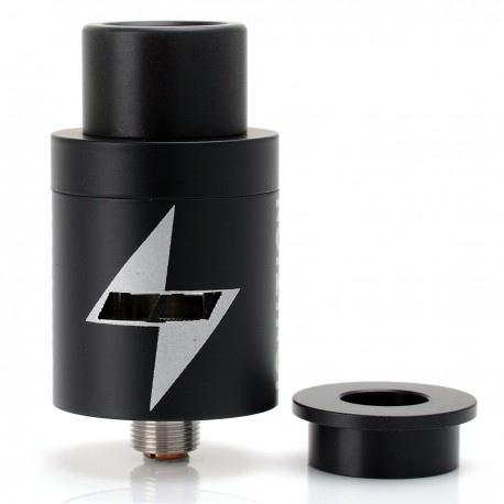 Ignition Style RDA Rebuildable Dripping Atomizer - Black, Stainless Steel, 22mm Diameter