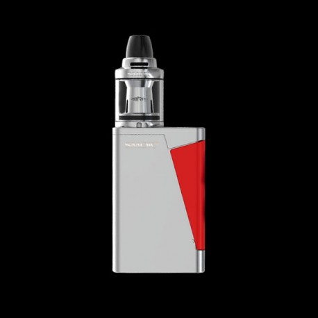 Authentic SMOKTech SMOK H-PRIV Mini 50W TC VW Kit w/ Brit Mini Flavor Tank - Silver, 1~50W, 2ml, 22mm Diameter