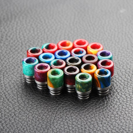 510 Drip Tip for E-cigarette Atomizers - Random Color, Epoxy Resin, 16mm