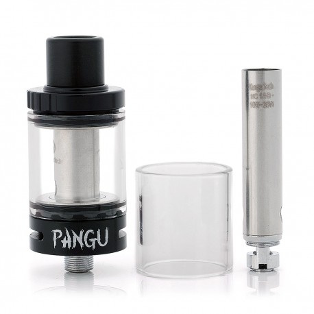 Authentic Kanger PANGU Sub Ohm Tank Clearomizer - Black, Stainless Steel, 3.5ml, 22mm Diameter