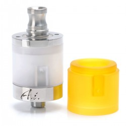 SJMY Chiyou A.I. AI Style RDTA Rebuildable Dripping Tank Atomizer - Silver, 316 Stainless Steel, 2ml, 22mm Diameter