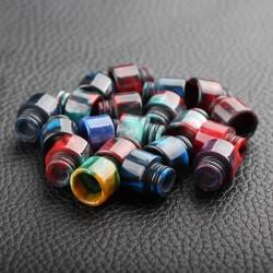 510 Drip Tip for E-cigarette Atomizers - Random Color, Epoxy Resin, 13mm