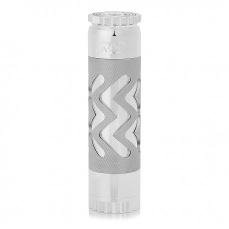 AV Able Style Hollow-out Mechanical Mod - Silver, Brass, 1 x 18650