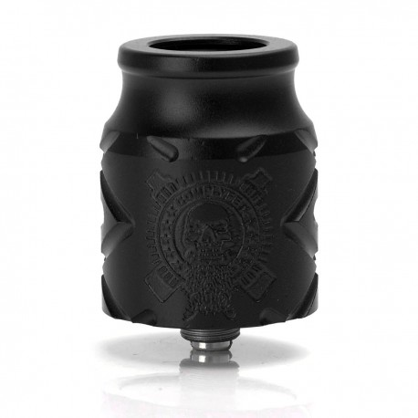 Comp Lyfe X Battle Style RDA Rebuildable Dripping Atomizer - Black, 316 Stainless Steel + Aluminum, 24mm Diameter