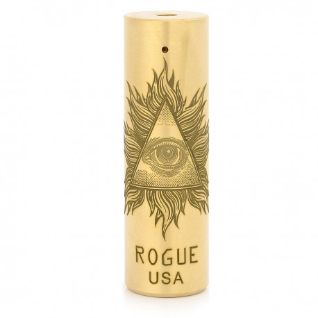 Storm Rogue USA Style Mechanical Mod - Brass, Brass, 1 x 18650
