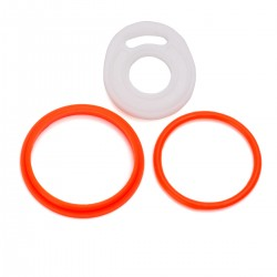 Authentic Vapesoon Replacement Rubber Sealing O-Ring for SMOK TFV8 Cloud Beast Atomizer - Orange + White (3 PCS)