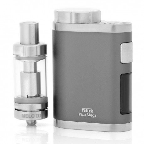 Authentic Eleaf iStick Pico Mega 80W Mod Grey Kit + MELO III / Mini