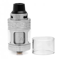 Authentic OBS Engine RTA Rebuildable Tank Atomizer - Silver, Stainless Steel, 5.2ml, 25mm Diameter