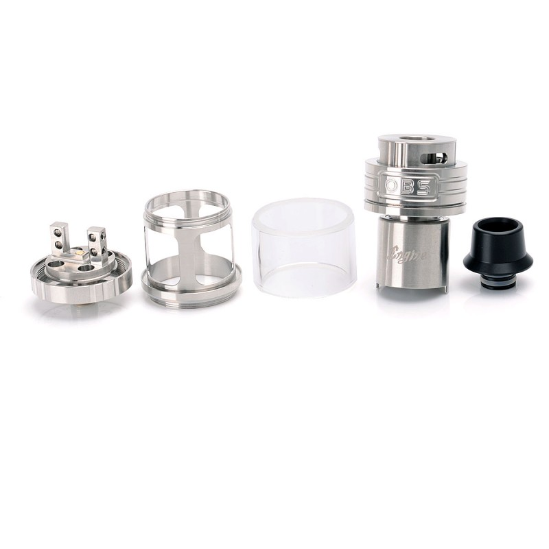 Authentic Obs Engine Rta 5 2ml 25mm Silver Rebuildable