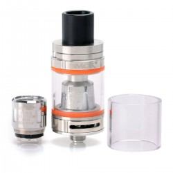 Authentic SMOKTech SMOK Micro TFV8 Baby Beast Tank Atomizer - Silver, Stainless Steel, 3ml, 22mm Diameter