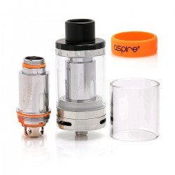 Authentic Aspire Cleito 120 Sub Ohm Tank Clearomizer - Silver, Stainless Steel, 4ml, 25mm Diameter