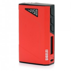 Authentic Sigelei J150 150W TC Temperature Control 2000mAh VW Variable Wattage Box Mod - Black + Red, 10~150W