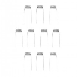 Authentic VapeThink SS 316L Notch Coil for RBA Atomizers - Silver, 0.25 Ohm (10 PCS)