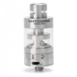 Authentic Oumier White Bone Mini RTA Rebuildable Tank Atomizer - Silver, Stainless Steel, 2.5ml, 22mm Diameter