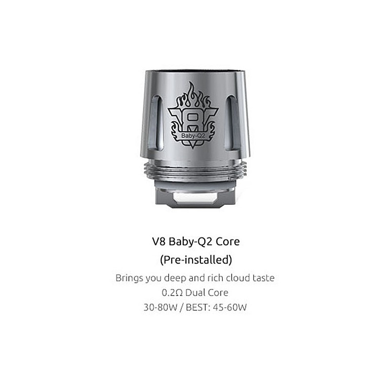 Authentic Smoktech Smok Tfv8 Baby 5 Pcs 0 4 Ohm V8 Baby Q2