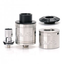Authentic Aspire Quad-Flex Power Pack Atomizer Kit - Silver, Stainless Steel