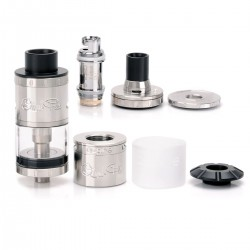 Authentic Aspire Quad-Flex Survival 4-in-1 Atomizer Kit - Silver, Stainless Steel + Glass