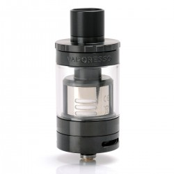 Authentic Vaporesso Giant Dual Tank Atomizer w/ RBA Deck - Black, Stainless Steel, 4.5ml, 25.5mm Diameter