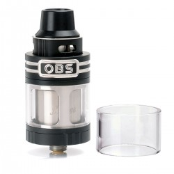 Authentic OBS Engine RTA Rebuildable Tank Atomizer - Black, Stainless Steel, 5.2ml, 25mm Diameter