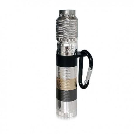 AV Able Style Mechanical Mod + AV Mini Complyfe Battle RDA Atomizer Kit - Silver, Stainless Steel + Brass + Aluminum, 1 x 18650