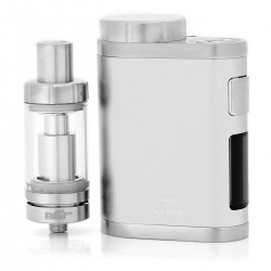 Authentic Eleaf iStick Pico Mega 80W TC VW Box Mod Kit w/ MELO III - Silver, 1~80W, 1 x 18650 / 26650, 4ml