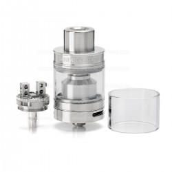 Authentic Wotofo SERPENT Mini 25 RTA Rebuildable Tank Atomizer - Silver, Stainless Steel, 4.5ml, 25mm Diameter