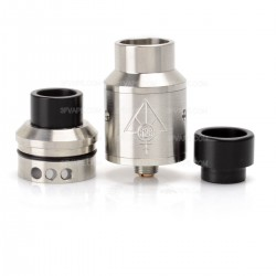 Goon Style RDA Rebuildable Dripping Atomizer - Silver, Stainless Steel, 22mm Diameter