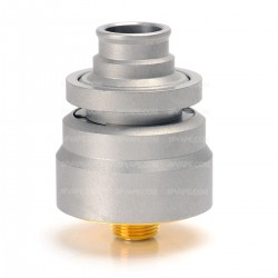 DDP Style RDA Rebuildable Dripping Atomizer - Silver, 316 Stainless Steel, 22mm Diameter