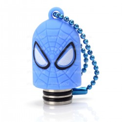 Universal 510 Drip Tip w/ Blue Silicone Spider-Man Sleeve - Random Color, Stainless Steel + Resin, 18.6mm