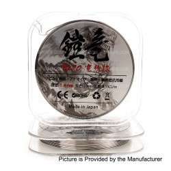 Authentic Mighty Dynamic Armor Dragon Ni80 Resistance Wire for RBA / RDA / RTA - Silver, 0.4mm, 10m, 8.59ohm/m