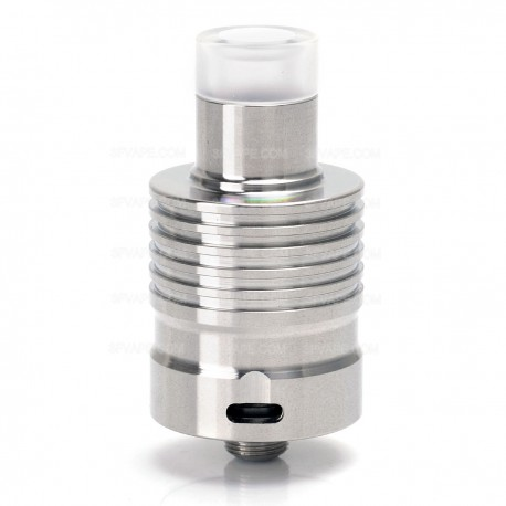 IDA Concept Style RDA Rebuildable Dripping Atomizer w/ Build Box - Silver, 316 Stainless Steel, 22mm Diameter