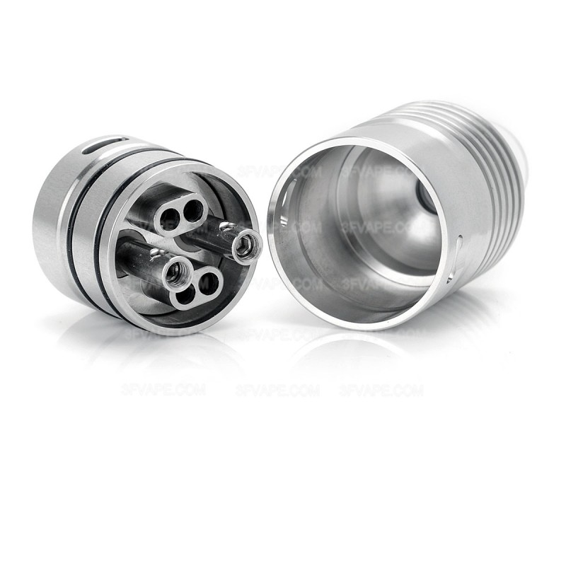 IDA Concept Style RDA Silver 316SS Rebuildable Atomizer w/ Build Box