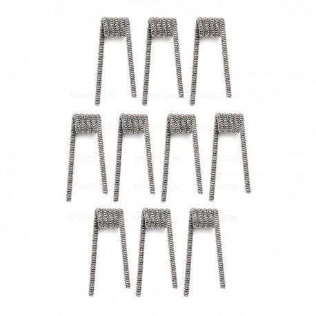 Authentic Demon Killer Clapception Coil + Allen Key Kit - Silver, Kanthal A1 + 316L Stainless Steel, 0.35 Ohm (10 PCS)