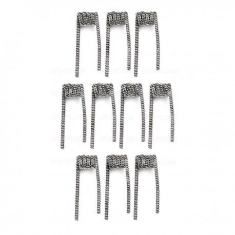 Authentic Demon Killer Tri-Twisted Clapton Coil + Allen Key Kit - Silver, Kanthal A1 + 316L Stainless Steel, 0.35 Ohm (10 PCS)