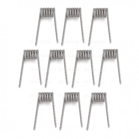 Authentic Demon Killer Spaced Clapton Coil + Allen Key Kit - Silver, Kanthal A1 + 316L Stainless Steel, 0.35 Ohm (10 PCS)