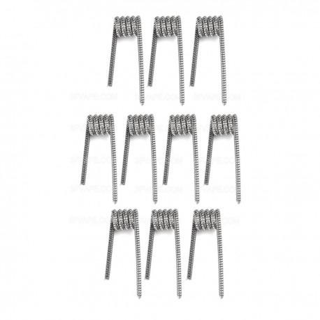 Authentic Demon Killer Tsuka Coil + Allen Key Kit - Silver, Kanthal A1 + 316L Stainless Steel, 0.25 Ohm (10 PCS)