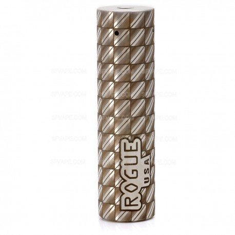 Storm Rogue USA Style Mechanical Mod - Silver, Stainless Steel, 1 x 18650